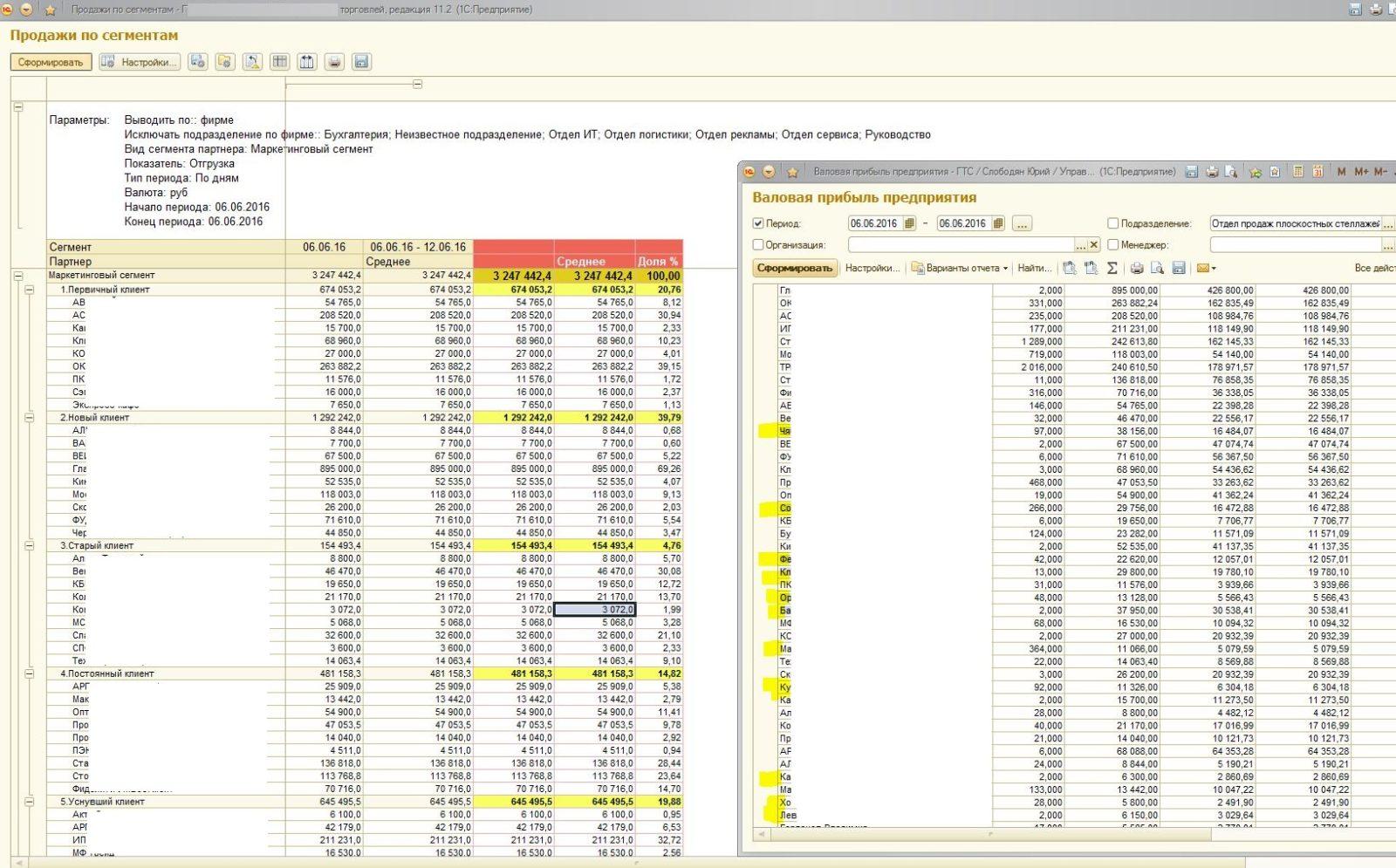 Расширенное сегментирование клиентов на базе 1С:УТ